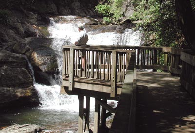 Dukes Creek upper falls deck