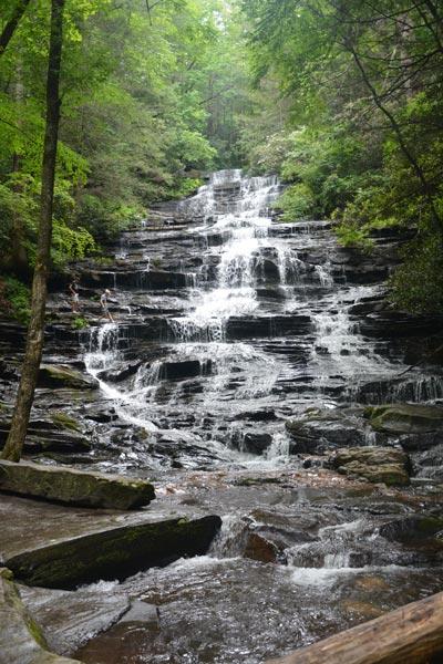 minihaha waterfall in Rabun County Georgia